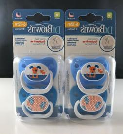 Dr. Brown's- Blue- BPA Free PreVent 6-12 Months 2 Pack Ortho