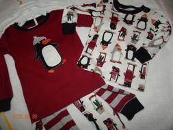 BNWT Carters Boys 12 Months  Pc PENGUIN Winter Pajama Sets 2