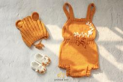 Body suit baby girls knitting, pants baby girl, handmade clo