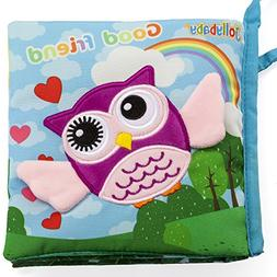 Vaitoys Best Baby Books Touch and Feel peek a Boo Cloth Book