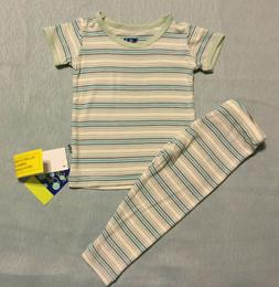 Boy's KICKEE PANTS Desert Stripe 2 Piece Pajama Set Size 6-1