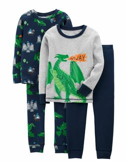 Boy's Pajamas Lot of 2 Dragon Castle Yawn Caters NWT 12 mont