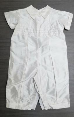 Little Things Mean A Lot Boys 100% Silk Christening Romper 1