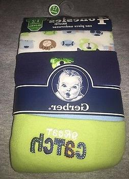 Gerber Boys 12 Months One Piece Body Suit  Infant 4 Pack Spo