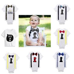 Boys Baby Clothes Baby Rompers White Kids Jumpsuits One Piec