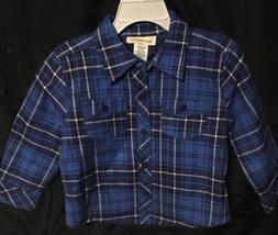 Toughskins Boys Size 12 Months Quilted Poly Filled Shirt Jac