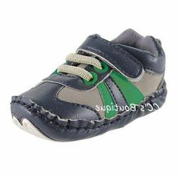 Boys LUVABLE FRIENDS tennis shoes 0-6-12-18 NWT baby crib na