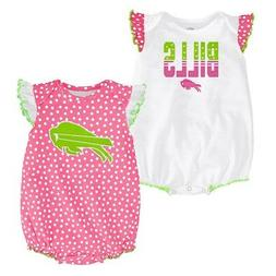 "Buffalo Bills NFL Outerstuff Infant Pink/White ""Polka Fan"" 2"