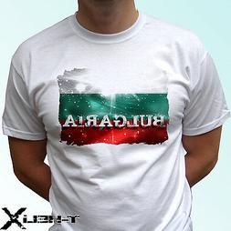Bulgaria flag - white t shirt top country design - mens wome