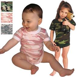 Camo Infant One Piece Baby Outfit Body Suit Romper Army Mili