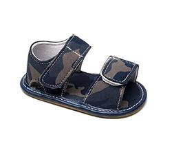 LNGRY Infant Baby Girl Boy Camouflage Leather Sandals Summer