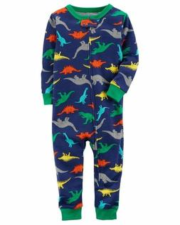 CARTER'S BABY BOY 1PC DINOSAURS FOOTLESS L/S COTTON SLEEPER