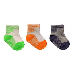 Carter's Baby Boys' Crew Socks , neon space dye, 3-12 Months
