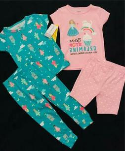 Carter's Baby Girl Pajamas 12 Months Spring Summer Short Lon