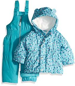 Carter's Baby Girls 2-Piece Heavyweight Printed Snowsuit wit