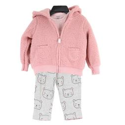 Carter's Baby Girls' 3-Piece Outfit Set, size 12 Months, Pin