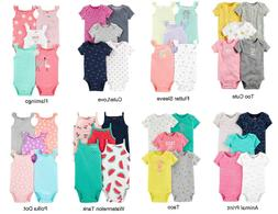 Carter's Girls 5 Pack Bodysuit Sets Newborn 3 6 9 12 Months