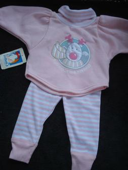 Carter's Vintage Infant Girls Two Piece Fleece Outfit New Si