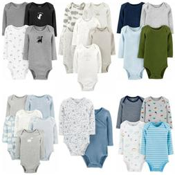 Carters Bodysuits Baby Boys Long Sleeve Unisex Sets New