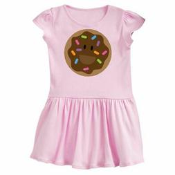 Inktastic Chocolate Doughnut Infant Dress Donut Smiling Cute