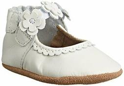 Robeez Claire Mary Jane Crib Shoe , Claire White, 6-12 Month