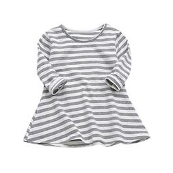 Vicbovo Clearance Sale Toddler Baby Girl Kids Casual Striped