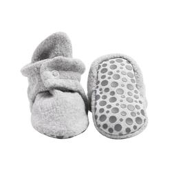 Zutano Cozie Fleece Baby Booties with, Heather Gray, Size 12