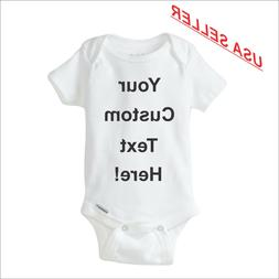 Custom Gerber Onesie Personalized infant baby shower cute fu