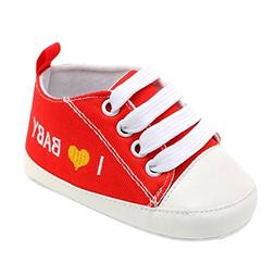 Voberry@ Cute Baby Lace Up Sneaker Soft Soled Heart Letter P