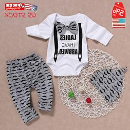 Cute Newborn Infant Baby Boys Gentleman Outfit Clothes Rompe