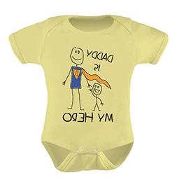 Tstars Daddy is My Hero - Super Dad for Fathers Cute Baby Bo
