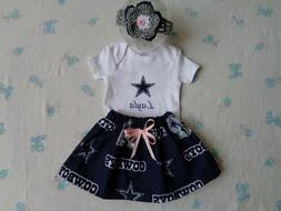 dallas cowboys baby girl skirt personalized bodysuit