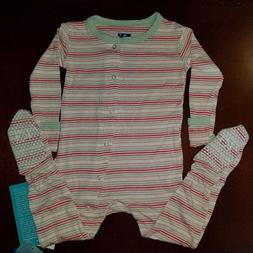 Kickee Pants Desert Stripe Toddler Girl Footie 12-18 Months