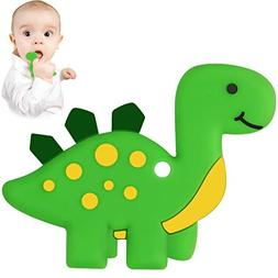 Dinosaur Baby Teether - Bestwin BPA Free Silicone Teething T