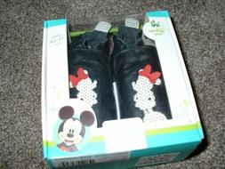 Robeez Disney Baby Girls Minnie Mouse Shoes Black Leather 12