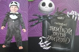 DISNEY NIGHTMARE BEFORE CHRISTMAS Infant Boys Costume-JACK S
