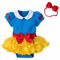 Disney Snow White Baby Costume Outfit & Headband Size 3 6 9