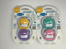 Dr Brown's PreVent 6-12 Months 4 Pacifiers BPA Free - Brand