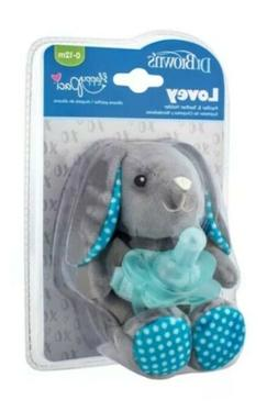 Dr Browns Lovey Pacifier And Teether Holder Bunny 0-12 Month