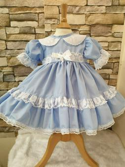 DREAM 0-5 YEARS BLUE OR PINK TRADITIONAL PUFFBALL DRESS OR R