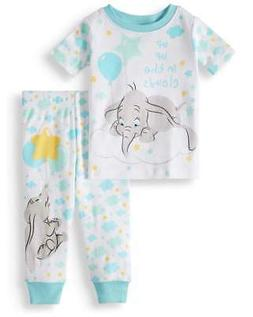 DISNEY DUMBO UP UP IN THE CLOUDS BABY PAJAMAS SIZE 9 12 18 2