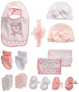 Newborn Baby Essentials Gift Set for Boys and Girls; Hats,