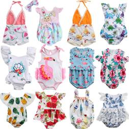 Fashion Newborn Kids Baby Girl Flower Romper Jumpsuit Sunsui