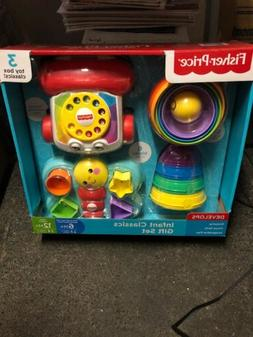 Fisher Price Infant Classics Gift Set 3 Toy Box Age 6-12 Mon