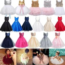 Flower Girl Dress Kids Tutu Pageant Wedding Party Gown Forma