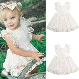 flower girl princess dress kids baby party