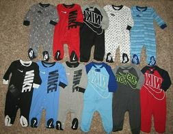 NIKE Futura Footed Coverall Baby Infant Newborn 3 6 9 Months