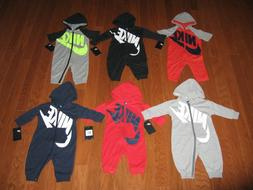 Nike Futura Infant Coverall Hoodie Outfit 0-3M, 3-6M, 6-9M,