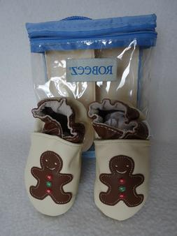 Robeez Gingerbread Baby Boy Girl 6 12 Months Shoes Christmas