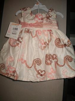 BONNIE BABY GIRL'S 2 Pc  DRESS and PANTIES  Size 12 Mos, NWT